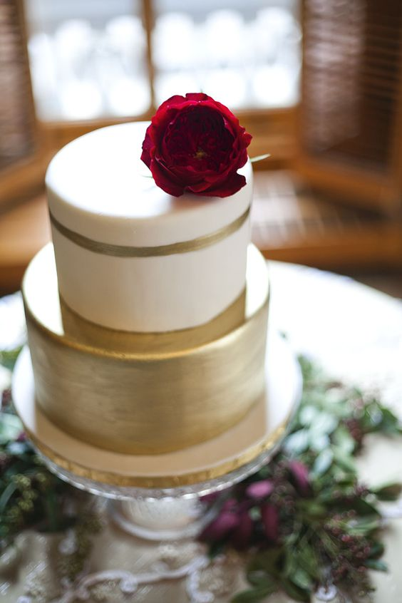 28-two-tiered-wedding-cake-with-a-flower-on-top
